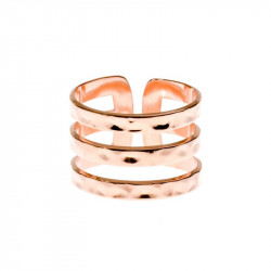 Bague ENZO Or, Or Rose ou...